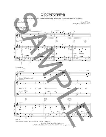 A Song Of Ruth By Steven Warner Arr Karen Schneider-Kirner