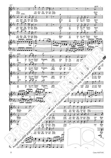 Psalm 95 By Felix Bartholdy Mendelssohn (1809-1847