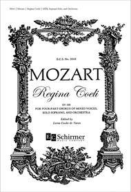 Regina Coeli, K.108 (Choral Score) By Wolfgang Amadeus