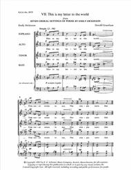 This Is My Letter To The World : letter, world, Dickinson, Settings:, Letter, World, Donald, Grantham, Octavo, Sheet, Music, Choir, Print, EC.3072, Schirmer, Publishing, Plus)