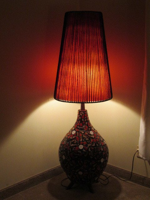 Extra Large CeramicMosaic Floor Lamp FOR SALE  Artifact