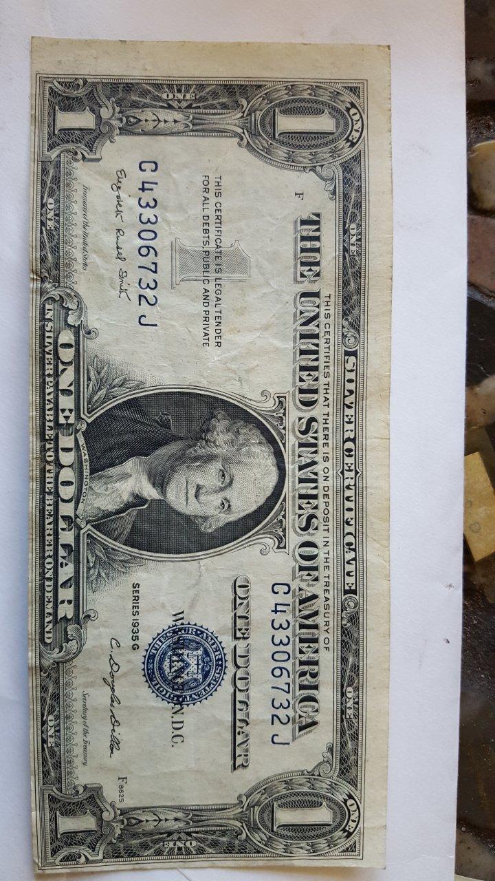 Silver Certificate F 1935 Value