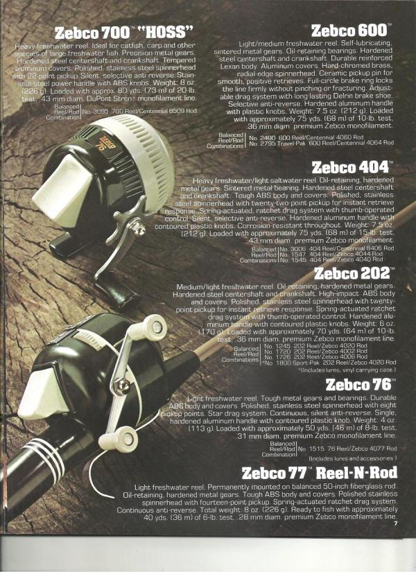 1977 Zebco Catalog 36 Pg. Fishing Talks