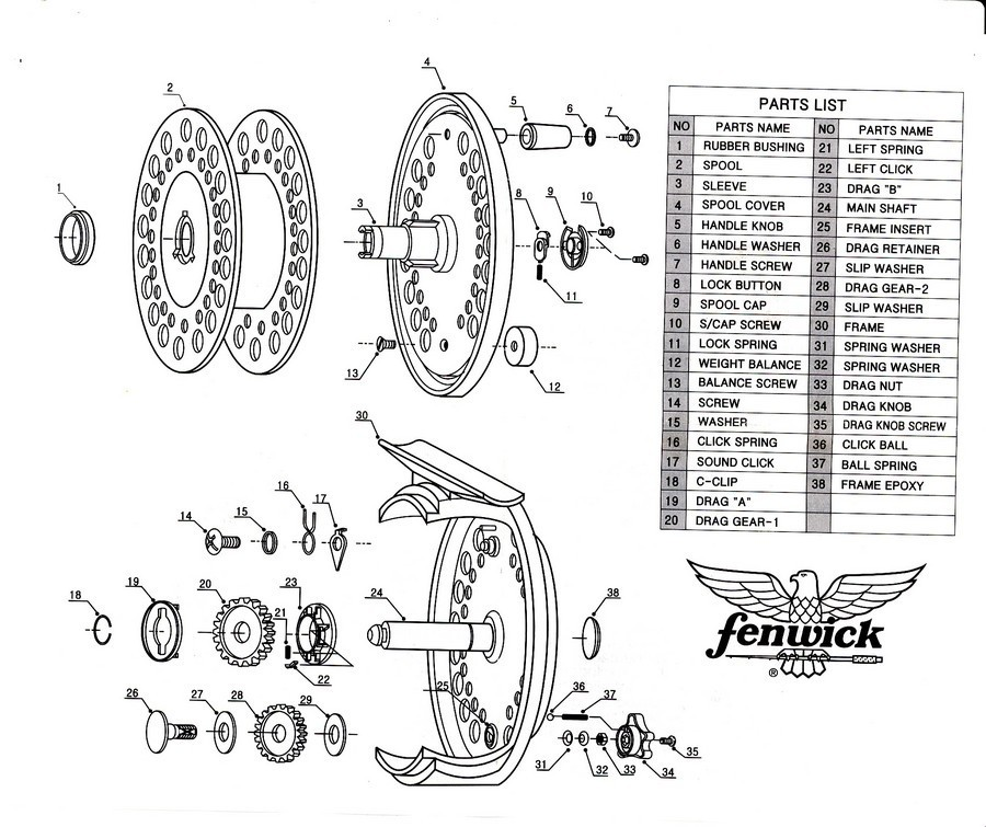 I Have A Model DCC78 Fenwick Fly Reel. Is Their A Place On