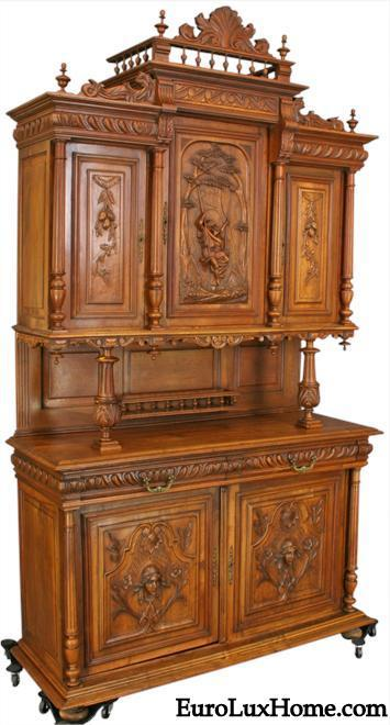 Renaissance Buffet Carved Like French Painting  My