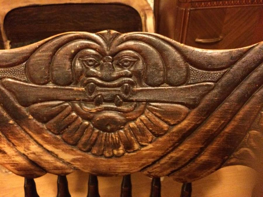 Rocking Chair Carved Face  My Antique Furniture Collection