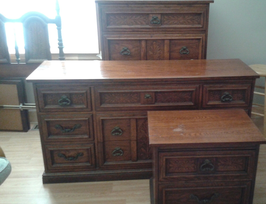 4 Piece Dixie Bedroom Set  My Antique Furniture Collection