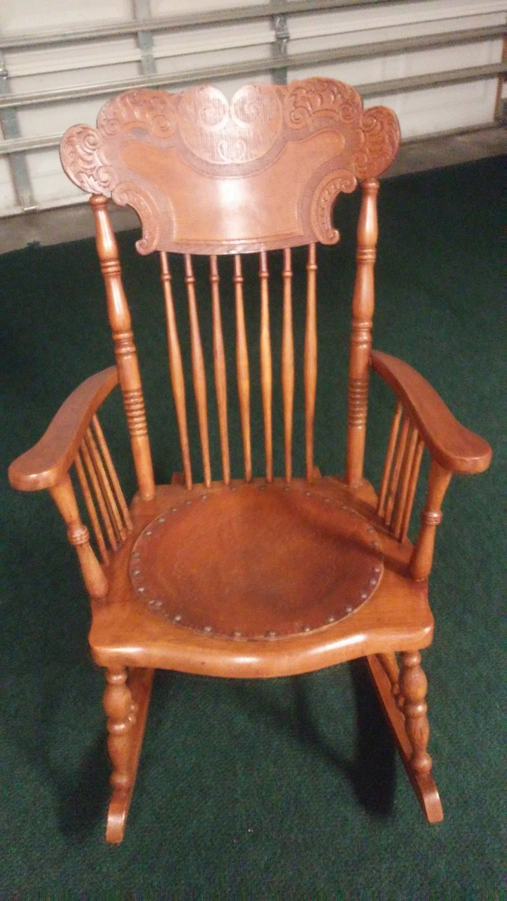 Lions Head Rocking Chair Can Anyone Identify This