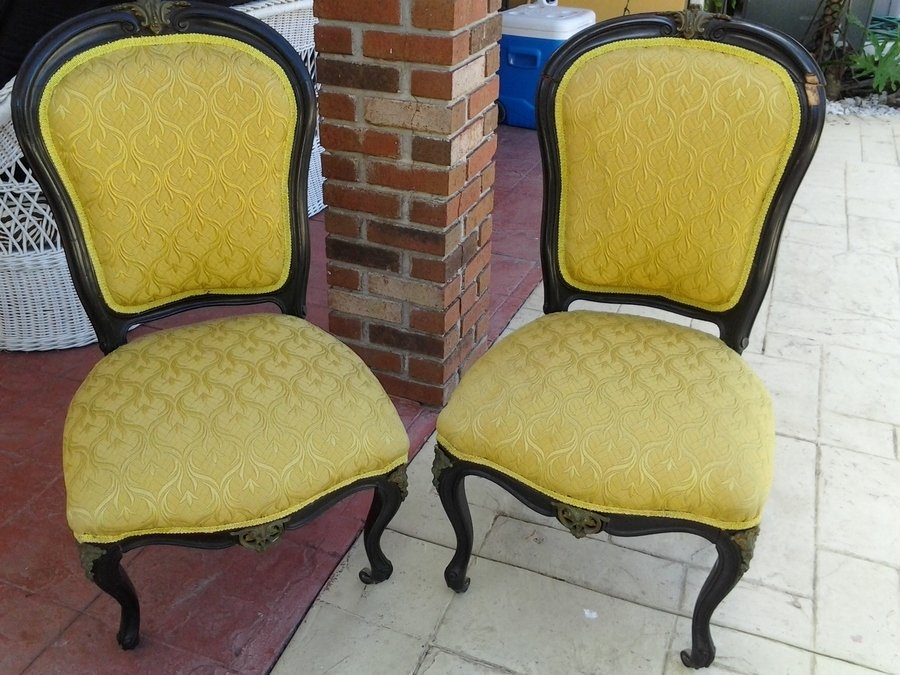 Antique Chair With Front Leg Wheelswhat Are They Called