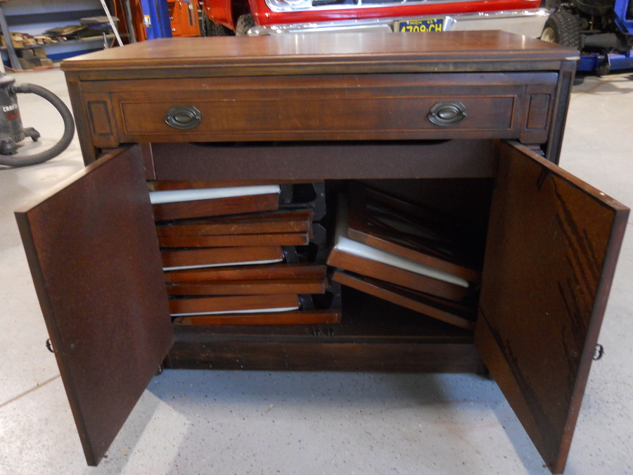 Saginaw Expandomatic Rollout Table  My Antique