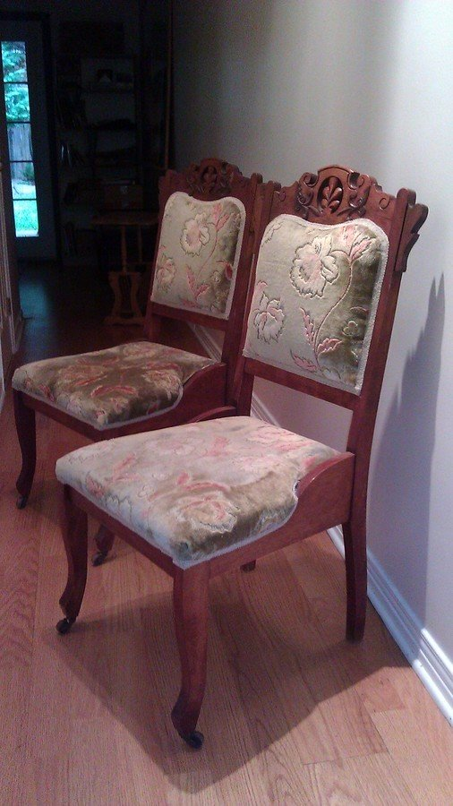 I Have 2 Wood Dining Chairs With Wood Casters On The Front
