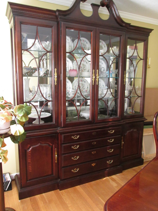 Thomasville Collectors Cherry Breakfront And Buffet My