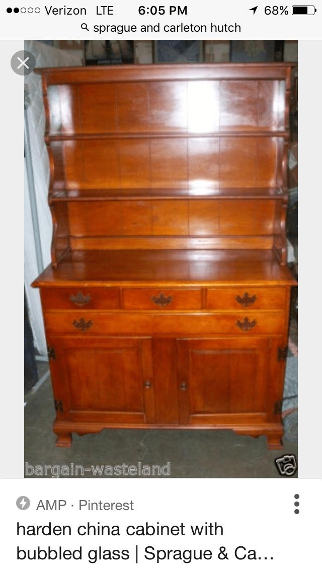 Sprague  Carleton Hutch  My Antique Furniture Collection