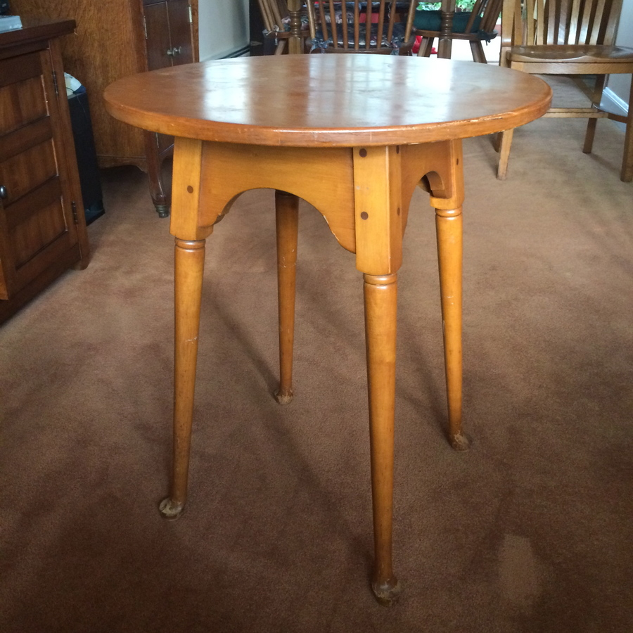 Whitney Heirloom Maple Lamp Tables 328 2 My Antique