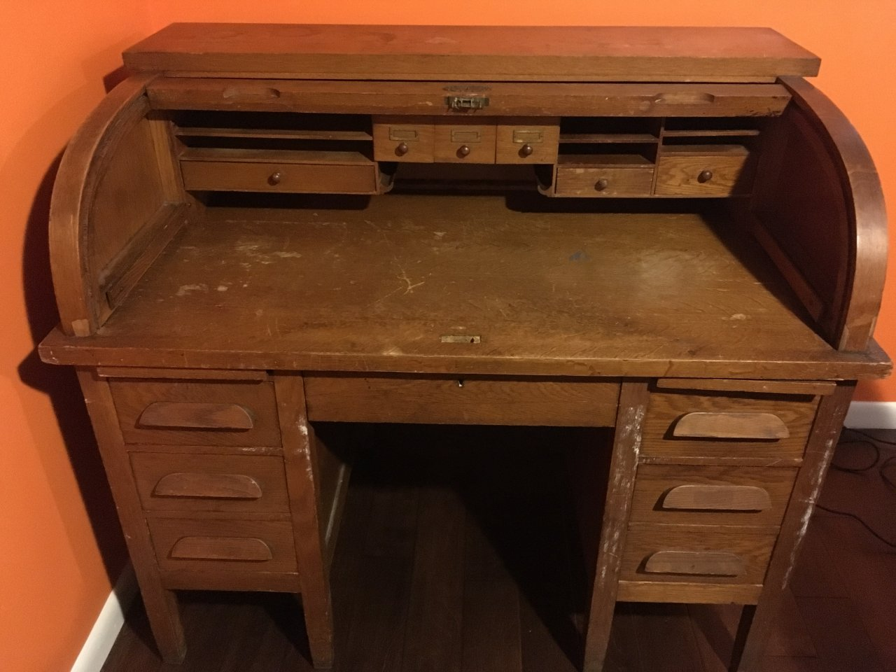 Antique Jasper Rolltop Desk  Identify Age  Worth  My