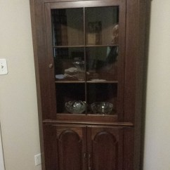 Ethan Allen Dining Room Chairs Wicker Chair With Cushions Pennsylvania House Corner China Cabinet, Circa 1960. No 5537 C? Markings On... | My Antique ...