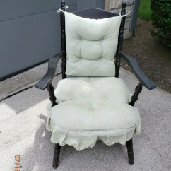 How To Make A Rocking Chair Turquoise Office Uk Mid 40's Armed Cricket | My Antique Furniture Collection