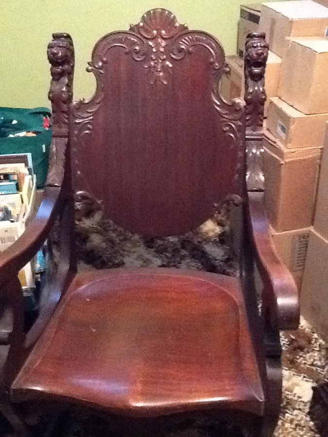 Lions Head Rocking Chair  My Antique Furniture Collection
