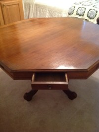 Walter Corey Antique Game Table With Keys To Each Drawer ...