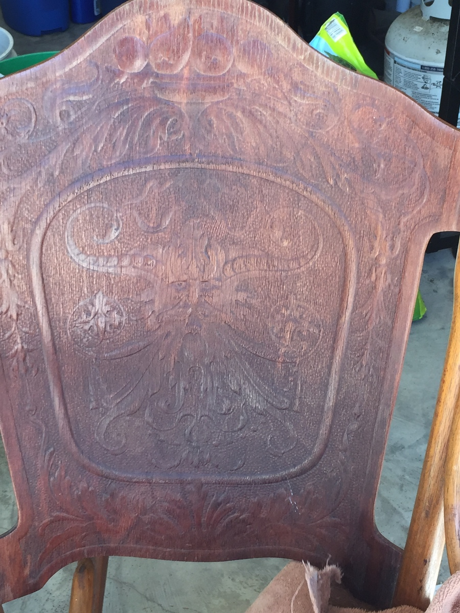 Antique Rocking Chair With Carved Face  My Antique