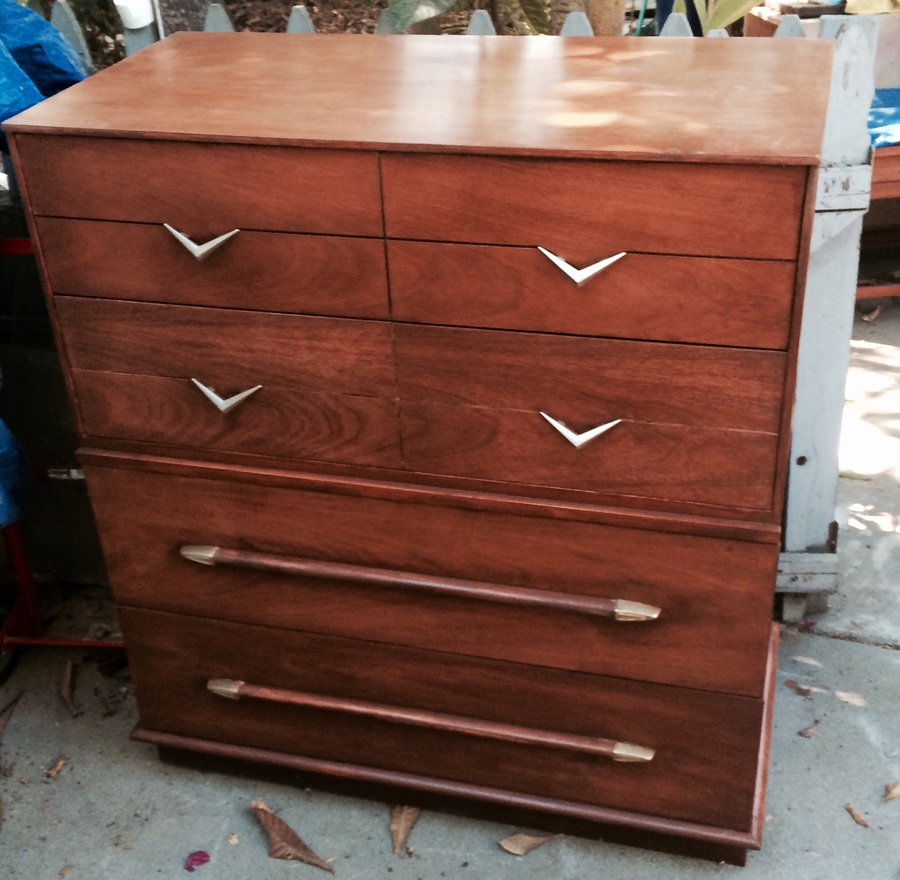 Dixie Mid Century Bedroom Set Not Sure What Wood Or Top