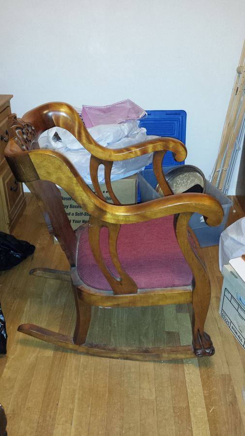 I Have A Clawfoot Rocking Chair That My Dad Refinished And