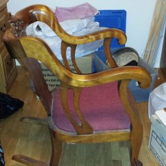 Cane Back Chairs Antique Cheap Directors I Have A Clawfoot Rocking Chair That My Dad Refinished And Put To It's... | ...