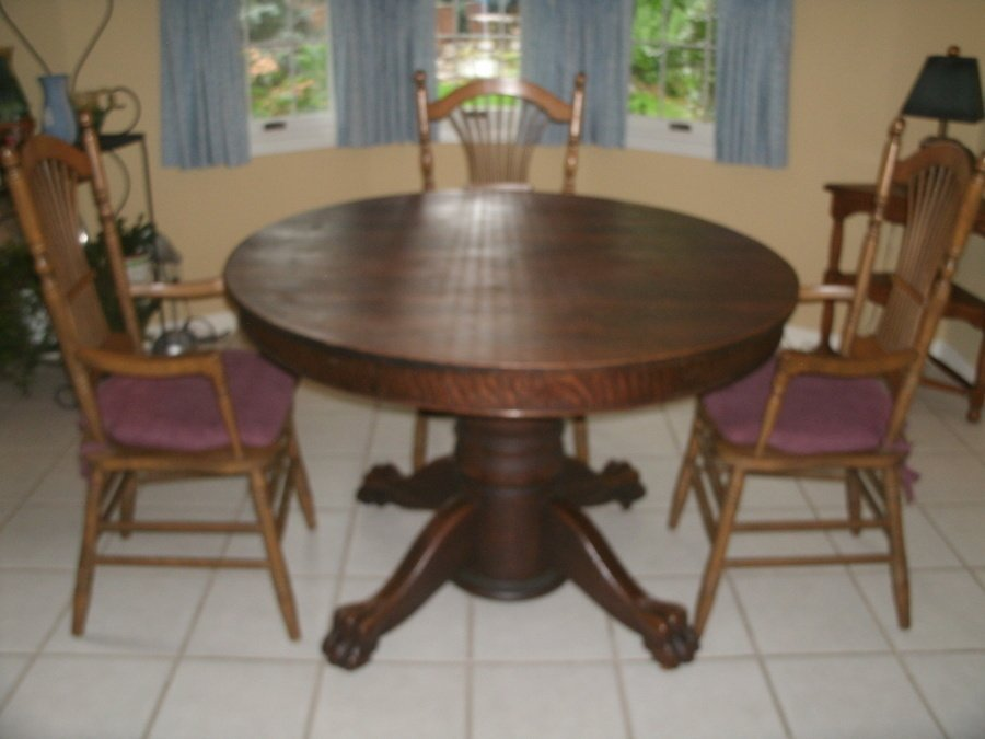 antique tiger oak dining room chairs rattan indoor nz set - large library table w drawer circa 1900 on ...