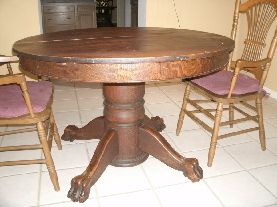 antique dining chairs value vinyl bean bag of oak tiger claw table | my furniture collection