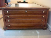 Oak Coffee Table With Display Drawer | My Antique ...