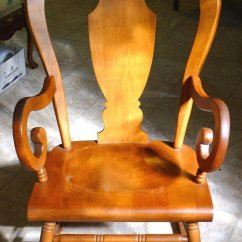 Antique Rocking Chairs Value Metal Cafe Tell City #684 1/2 Chair With Andover Finish #48 | My Furniture Collection
