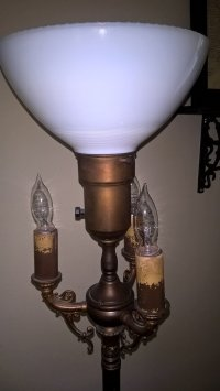 Antique Corner Lamp