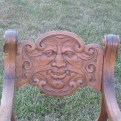 Antique Rocking Chairs Value Wedding Chair Cover Hire Shropshire I Have An Hand Carved Wood With A Face On It. The Looks ... | My