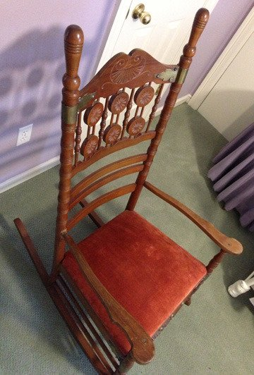 antique wooden rocking chairs argos recliner ireland need help identifying an chair | my furniture collection