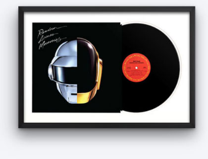 framed vinyl albums level