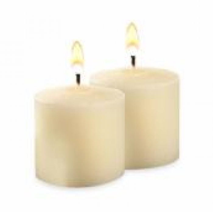 disposable chair covers canada crate and barrel rocking unscented votive candles in white (set of 20) | print store