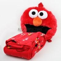Sesame Street Elmo Face Plush Throw Blanket : Red Star ...