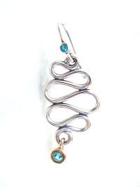 Pandora Infinity Sterling Silver Dangle Earrings with 14k ...