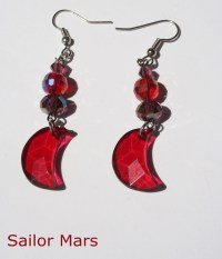 Sailor Scouts Crescent Moon Earrings  Nerdy Robots ...