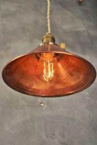 Industrial Pendant Lamp w/ Weathered Copper Lamp Shade ...