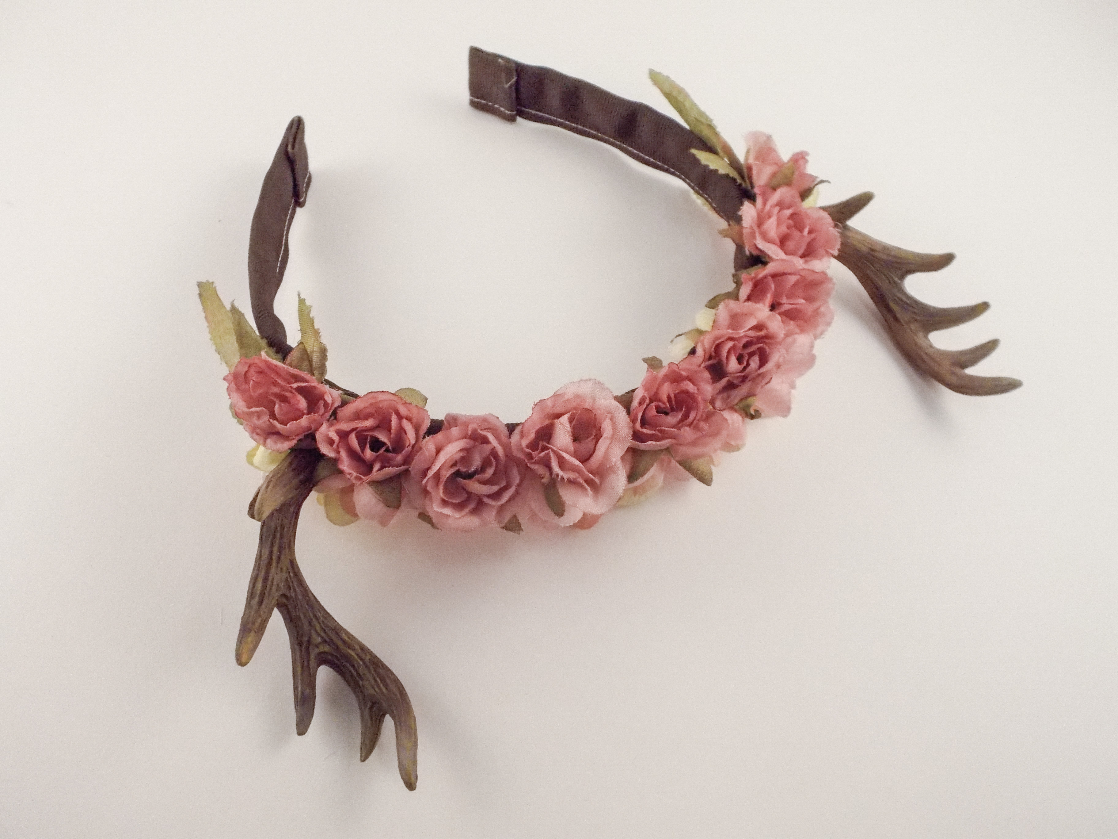 Forest Fawn Deer Antler Flower Crown Accessory on Storenvy