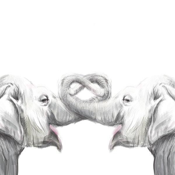 elephant painting 8 x10