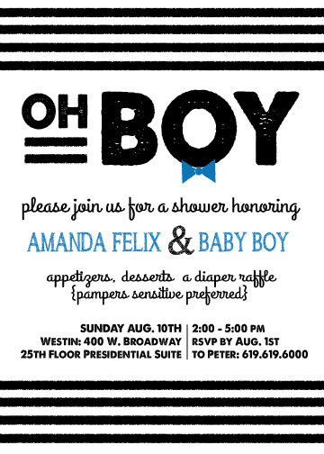 Oh Boy Baby Shower Invitation · Hooray Shop · Online Store Powered By  Storenvy
