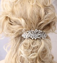 Crystal Pearl Hair Barrette Bridal Wedding Hair Accessory ...
