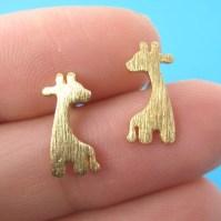 Dotoly Plus | Giraffe Shape Animal Stud Earrings in Gold ...