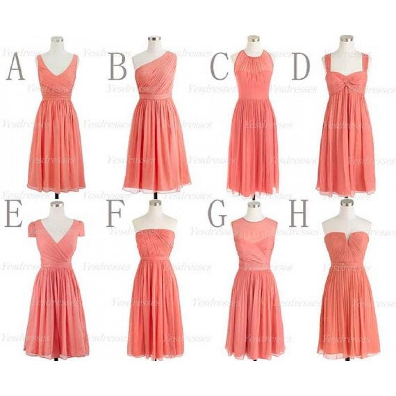 Coral bridesmaid dresses, short bridesmaid dresses