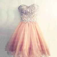 peach prom dress, short prom dress, prom dress 2017 ...