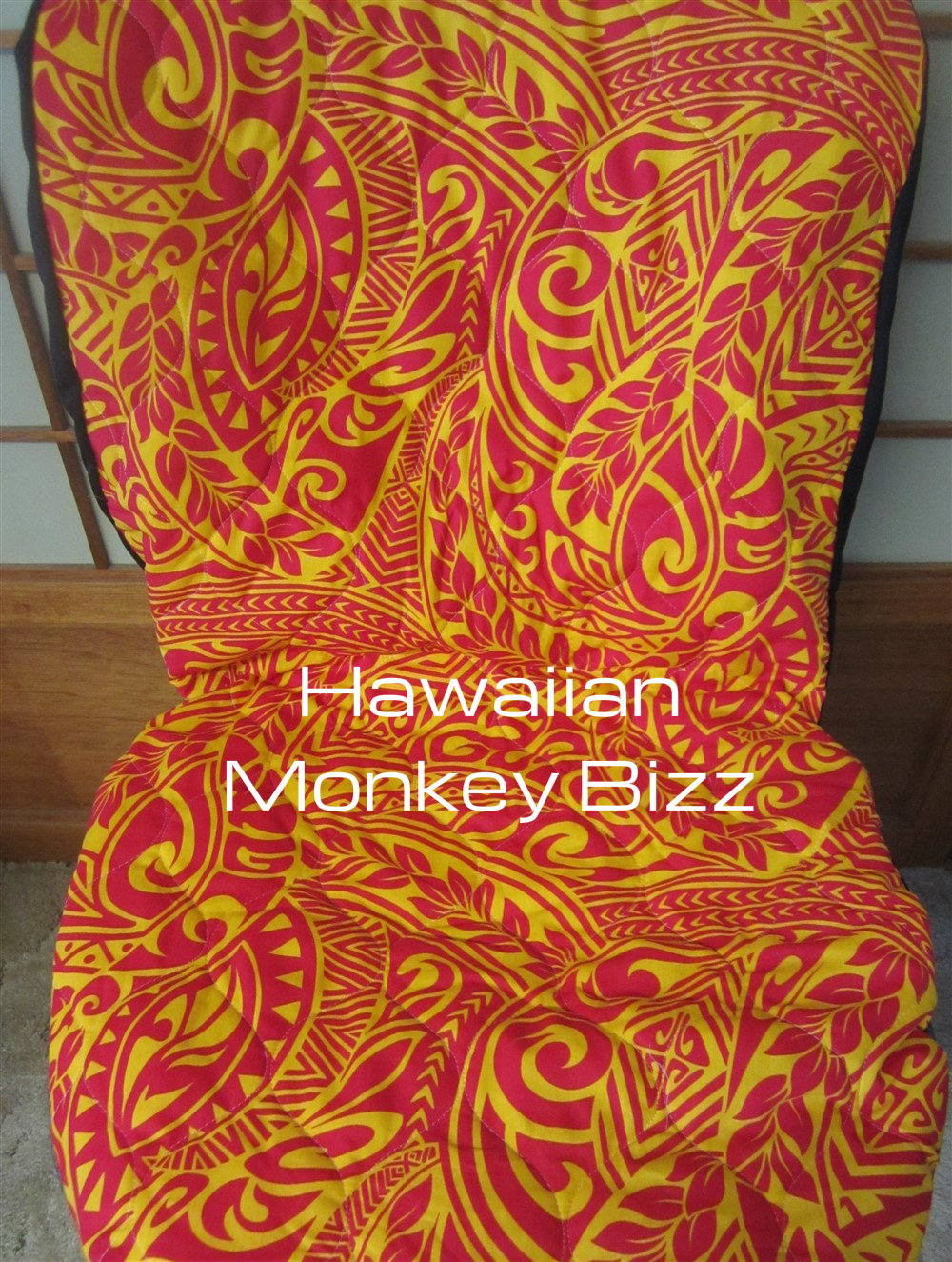 hawaiian chair covers gaming with wheels monkey bizz |