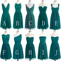 Teal Green Bridesmaid Dress, Short Bridesmaid Dress ...