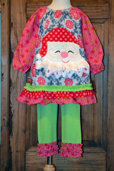 Millie Jay Santa Applique Dress  Leggings Set on Storenvy